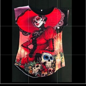 Day of the dead Girl tee